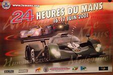24 Heures Du Mans June 2001 Bentley Car Poster Own It! > Stunning Rare!