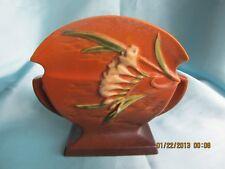 Roseville Pottery Freesia Brown Pillow Vase 199-6