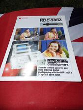 Ricoh RDC 3000Z 3X Zoom digital camera advertising brochure