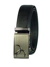 Men leather belt (sliding) ,SH22017 (black)S to 50''