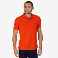 Nautica Mens Short Sleeve Slim Fit Performance Tech Polo Shirt