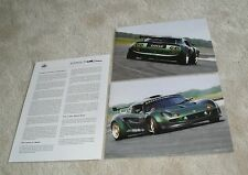 Lotus Motorsport Elise Press Release Brochure & Picture 1999