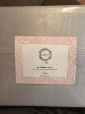 Auraa Cotton Rich Sateen Sheet Set King Silver Gray 600 Tc New 4 Pc Set