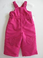 Hot Pink Winter Snow Suit Overalls Girls Zip Up Wonderkids Size 12 mo. 18 mo.