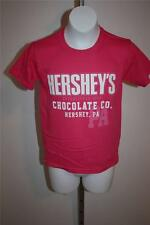 NEW Hersey's Chocolate Co. Hersey, PA Youth Small Size 8 Cute Pink T-Shirt 29ZS