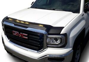 Aeroskin Low Profile Light Shield Hood Protector AVS for GMC Sierra 1500 Black
