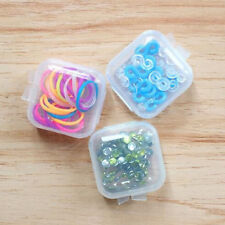5 Sets Small Box Jewelry Earplugs Container Storage Durable Mini Clear Plastic