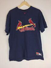 St Louis Cardinals Baseball Nike Team Logo Shirt Sz Large Stitched