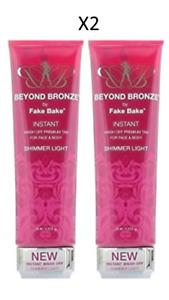 Beyond Bronze by Fake Bake Instant Tan for Face & Body - Shimmer Light X2