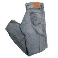 LEVIS 511 Mens Slim Light Blue Jeans W32 L31 (P710)