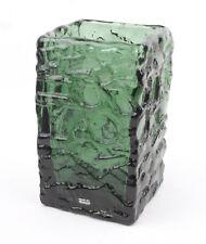 Ruda Glasbruk (Sweden) Dark Green Turkos Vase by Gote Augustsson 1960s (1)