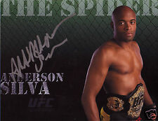 ANDERSON SILVA UFC AUTOGRAPH SIGNED PP PHOTO POSTER