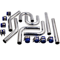 "Universal 2.5"" 63 mm di Diametro in Alluminio Intercooler Tubo Induzione Kit Nuo"