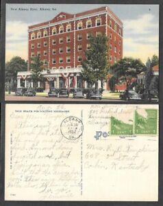 1952 Georgia Postcard - Albany Hotel