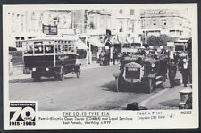 Sussex Postcard- Petrol-Electric Open Tourer, East Parade, Worthing c1919 -A2788
