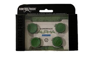 KontrolFreek Alpha Thumbsticks PS4 PS5 Green FPS PlayStation Gamerpack 2 Pack