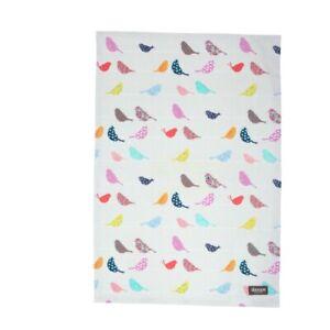 Dexam Set of 2 Tea Towels Flamingo Pink/Little Birds