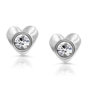 316L Surgical Steel Children's Heart Stud Earrings For Girls, Hypoallergenic, Sa