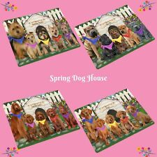 Spring Dog House Refrigerator Magnets, Dogs, Cats, Pet Photo Magnet Gifts
