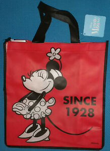@DISNEY 1928 CLASSIC MINNIE MOUSE RED REUSABLE TOTE/SHOPPING/FAVOR/GIFT BAG@NWT!
