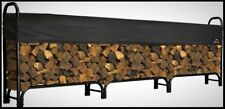 Firewood Rack Cover Set 12 ft Fireplace Log Wood Holder Indoor Outdoor Storage
