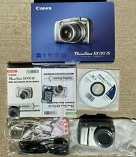 Canon PowerShot SX110 IS 9.0MP 10X Zoom Digital Camera Image Stabilizer Silver