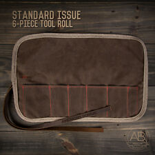 American Bonsai Waxed Canvas Tool Roll: 6 Slots