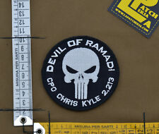 """Ricamata / Embroidered Patch C. Kyle """"Devil Of Ramadi"""" with VELCRO® brand hook"""
