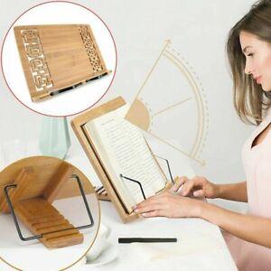 Buchständer Leseständer aus Bambus verstellbar Kochbuchhalter Ständer DHL DE
