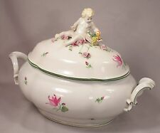 Large Beautiful Vienna Porcelain Putti Topped Soup Tureen