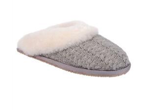 Patricia Green - Cable-knit Scuff Slipper - Vail - Size 8