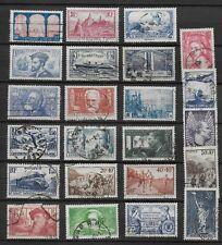France postage stamps 1930's selection 23v used