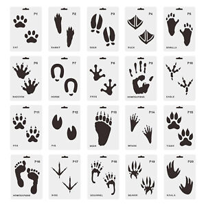 20pcs Stencils Drawing Templates for Painting on Paper Window Glass Door Wall,
