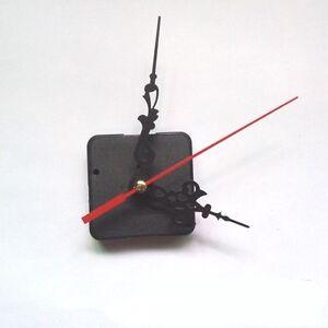 New Quartz Clock Movement Mechanism Long Spindle Red Hands Repair DIY Kit Set UK