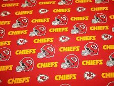"KANSAS CITY CHIEFS BRAND NEW DESIGN COLORS 58"" WIDE 1 YARD PIECE 100% COTTON"