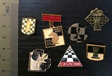 chess Russia SSSR sport pin lot of 7 pieces -73-