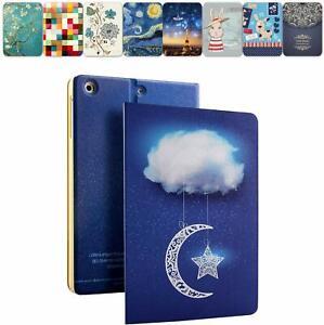 iPad Mini 7.9 1 2 3 4 Case A2133 A1538 A1599 A1489 A1432 Flip Cover Moon & Star