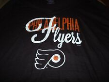 NHL WOMENS PHILADELPHIA FLYERS CAP SLEEVE TEE SHIRT BLACK