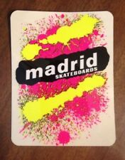 Vintage skateboard sticker madrid splash jeff phillips natas mark NOS Stranger