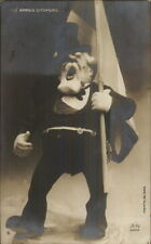 Political Patriotic Satire? Clay Sculpture AUX ARMES CITOYENS RPPC c1915