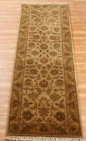 Hand Knotted Area Wool Rug Runner Floral Oriental Handmade Indian Carpet