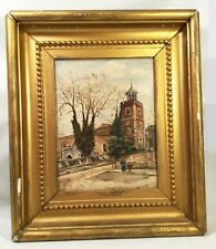 Antique oil painting. Late 19th century. English Middlesex. Signed C Woolnough.