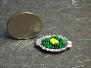 Dollhouse Miniature Green Peas in Dish Food Vegetables 1:12  D18 Dollys Gallery