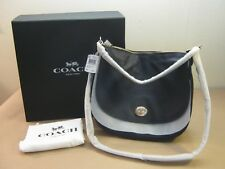 New w/Tags In Box Coach Navy Blue Pebble Pebbled Turnlock Hobo 36762 Ll/Navy