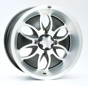 ATV UTV Alloy Wheel Rim 14x7, 4/110 PCD, 5+2 offset, ITP System 6 Alloy finish