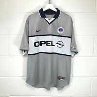 NIKE PARIS SAINT GERMAIN PSG 2000/2001 AWAY FOOTBALL SOCCER SHIRT JERSEY size XL