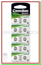 10 Batterie Pile CAMELION AG10 LR54 LR1130 189 GP89A 389 390 SR54 SR1130W