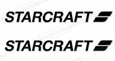 "PAIR OF 4.5""X28"" STARCRAFT BOAT HULL DECALS. MARINE GRADE. YOUR COLOR CHOICE 153"