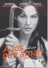 MONICA BELLUCCI -A los que aman - THOSE WHO LOVE - SEALED DVD REG 2 PAL