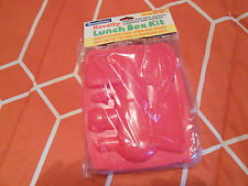 Plastic LOCOMOTIVE THEMED Lunch Box with Spoon & Fork - New in Package